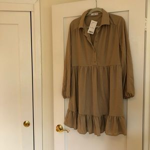 Mango Collared Shirt Dress (NWT)